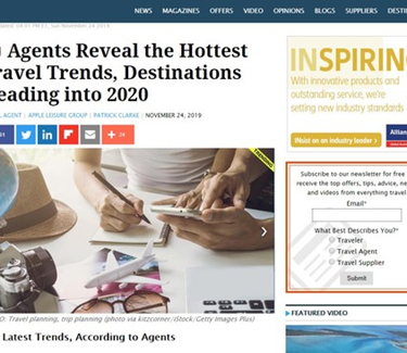 TravelPulse Feature